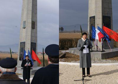 M. le Consul du Maroc et Mme Griffanti du Souvenir français