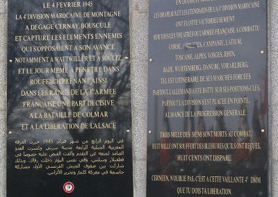 Les plaques commémoratives